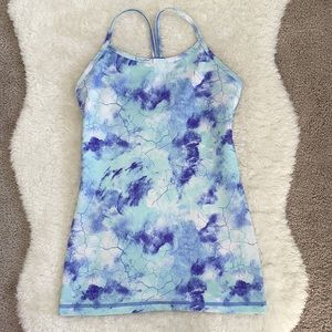 Ivivva purple and blue marble tank top size 12/14